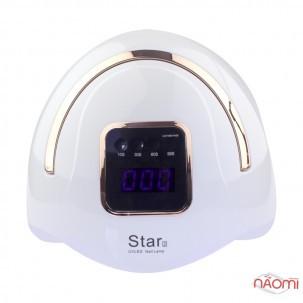 УФ LED лампа светодиодная Star 2 Gold 72 Вт, таймер 10, 30, 60 и 99 сек, цвет белый с золотой ручкой