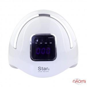 УФ LED лампа светодиодная Star 2 Silver 72 Вт, таймер 10, 30, 60 и 99 сек, цвет белый