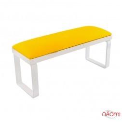 Подлокотник для рук Rainbow Store Loft настольный на съемных металлических белых ножках, цвет желтый
