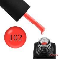 Гель-лак GO Active 102 Ready For Red оранжево-красный, 10 мл