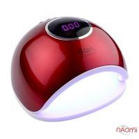 УФ LED лампа светодиодная Star 5 72 Вт, таймер 10, 30, 60 и 99 сек, цвет красный