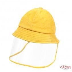 Панама підліткова з прозорим захисним екраном, окружність голови 52-54 см, колір жовтий