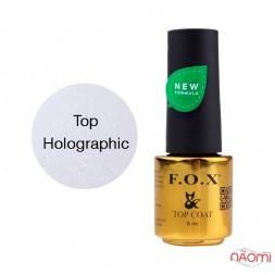 Топ для гель-лаку без липкого шару F.O.X Top Holographic, 6 мл