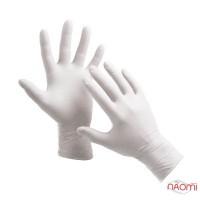 Перчатки нитриловые упаковка - 50 пар, размер M (без пудры), белые