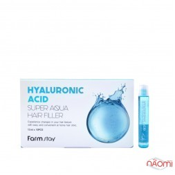 Філлер для волосся Farmstay Hyaluronic Acid Super Aqua Hair Filler зволожуючий, 13 мл