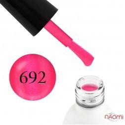 Гель-лак Koto 692 яркий розовый с шиммерами и перламутром, 5 мл