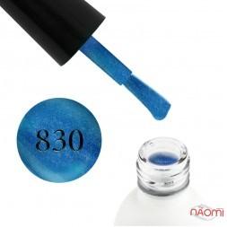 Гель-лак Koto 830 синій вітражний з голографічними шимерами, 5 мл