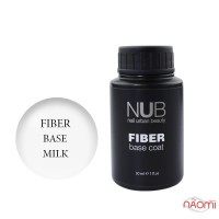 База для гель-лака с волокнами NUB Fiber Base Coat Milk, цвет молочный, 30 мл