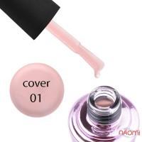 База камуфлирующая для гель-лака Elise Braun Cover Base Coat №01 цвет светло-розовый, 15 мл