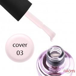 База камуфлирующая для гель-лака Elise Braun Cover Base Coat №03 розовая, 15 мл