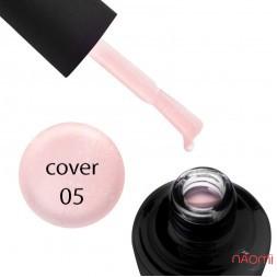 База камуфлююча для гель-лаку Elise Braun Cover Base Coat №05 колір світло-рожевий, з шимером 15 мл