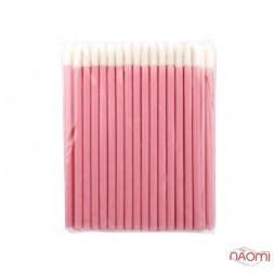 Одноразовые кисточки для макияжа, аппликатор для губной помады, макробраши розовые в пакете, 50 шт