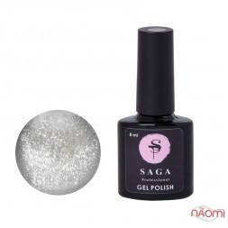 Гель-лак Saga Professional Cat Shine серебро, 8 мл