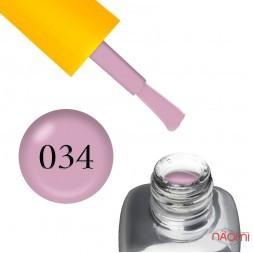 Гель-лак LEO Seasons Spring S034, приглушений бузково-рожевий, 9 мл