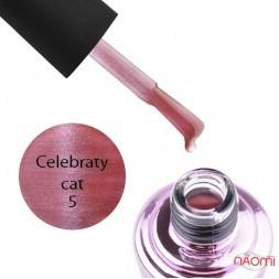Гель-лак Elise Braun Celebraty Cat 05, рожевий з відблиском, 7 мл