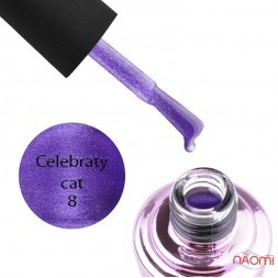 Гель-лак Elise Braun Celebraty Cat 08, фіолетовий з відблиском, 7 мл