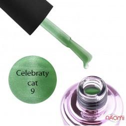 Гель-лак Elise Braun Celebraty Cat 09 зеленый с бликом, 7 мл