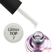 Топ для гель-лака без липкого слоя Elise Braun Glitter Top 07 с шиммером, 7 мл
