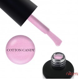База камуфлююча для гель-лаку Nails Molekula Base Coat Cotton Candy з шимером, 12 мл