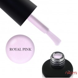 База камуфлююча для гель-лаку Nails Molekula Base Coat Royal Pink з шимером, 12 мл