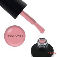 База камуфлирующая для гель-лака Nails Molekula Base Coat Rubber Nude Cover, розово-коричневая, 12мл