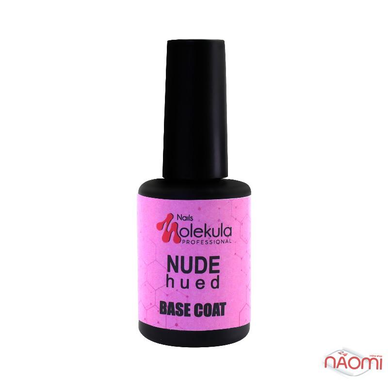 База камуфлирующая для гель-лака Nails Molekula Base Coat Rubber Nude Hued, розовая, 12 мл, фото 2, 150.00 грн.