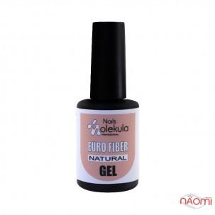 Гель моделюючий для нігтів Nails Molekula Euro Fiber Gel Natural, бежевий, 12 мл