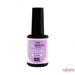 Гель моделирующий для ногтей Nails Molekula Euro Fiber Gel Pink, розовый, 12 мл