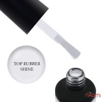 Топ для гель-лака без липкого слоя Nails Molekula Top Rubber Shine No Sticky с микроблеском, 12 мл