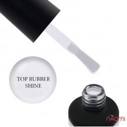 Топ для гель-лака без липкого слоя Nails Molekula Top Rubber Shine No Sticky с микроблеском, 12 мл