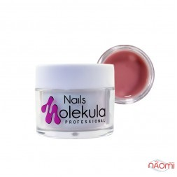 Гель камуфлюючий Nails Molekula Gel 09 Cover Medium, насичений бежево-червоний, 15 мл