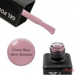 База камуфлююча для гель-лаку ReformA Cover Base Silver Shimmer 941016 з шимером, 10 мл