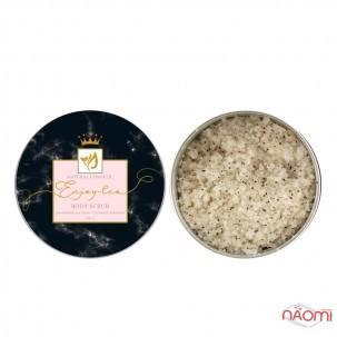 Натуральний сольовий скраб для тіла Enjoy-Eco Body Scrub Полуниця з вершками, банка, 220 г