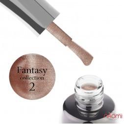 Гель-лак LUXTON Fantasy 02, латте з відблиском, 10 мл