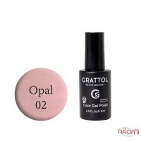 Гель-лак Grattol Opal 02 светло-розовый с опаловыми шиммерами, 9 мл