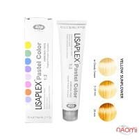 Крем-краска для волос без аммиака Lisap Lisaplex Pastel Color Yellow Sunflower,желтый подсолнух,60мл