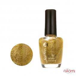 Лак для ногтей Jerden Glitter 603, золотисто-жовтий з глітером, 16 мл
