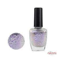 Лак для ногтей Jerden Glitter 617 розово-сиреневые шиммеры и серебристые конфетти, 16 мл