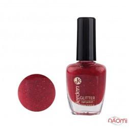 Лак для ногтей Jerden Glitter 622 малиновий джем с глиттером, 16 мл