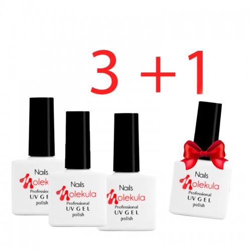 Акция! Купи три гель-лака Nails Molekula, 11 мл и получи четвертый гель-лак в подарок!, фото 1, 440.00 грн.
