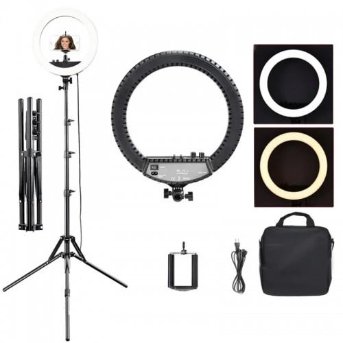 Лампа кольцевая LED RL-12 II, 28 Вт, d=34,5 см, со штативом и регулировкой света,цвет черный, фото 1, 2 399.00 грн.