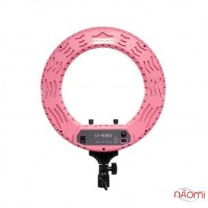 Лампа кольцевая LED LF-R360, 40 Вт, d=35 см, со штативом и регулировкой света, цвет розовый