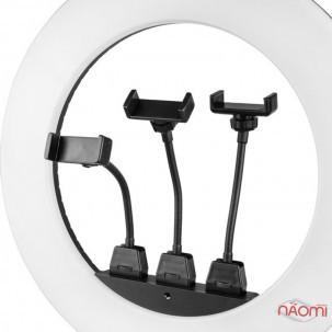 Лампа кільцева LED Bucos BCS-R480, 80 Вт, d = 46 см, зі штативом і регулюванням світла, колір чорний