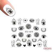 Слайдер-дизайн STZ 819 Глаза, губы, надписи