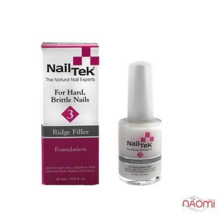 База лечебная для сухих, ломких ногтей Nail Tek Foundation 3 Ridge Filler, 15 мл, фото 1, 220.00 грн.