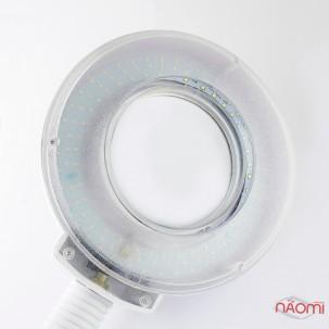 Лампа-лупа напольна на штативі з гнучким тримачем, на підставці, 3-5 діоптрій, d=23 см