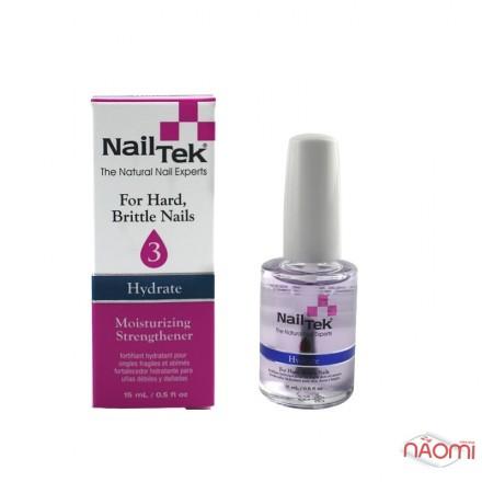 Увлажняющая терапия для сухих, твердых и ломких ногтей Nail Tek Moisturizing Strengthener 3 Hydrate, 15 мл, фото 1, 289.00 грн.