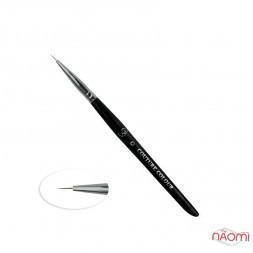 Пензлик для дизайну Couture Colour & GS Nail Art Brush 0, штучний ворс 5 мм