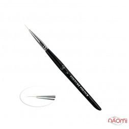 Пензлик для дизайну Couture Colour & GS Nail Art Brush 1, штучний ворс 11 мм