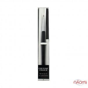Кисть для дизайна Couture Colour & GS Nail Art Brush 2, овальная, из волоса колонка 6 мм